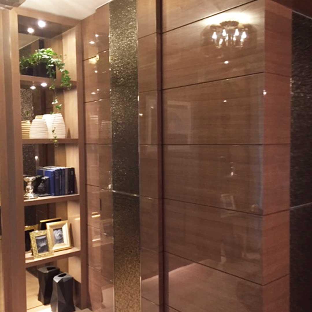 鏡面ドア 共栄産業 特注の板 建具の製造 販売 施工 飛騨古川